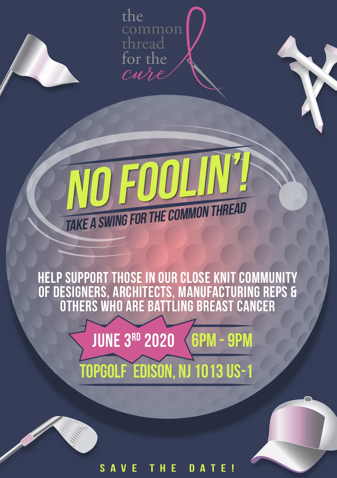 golf tournament April 1 at TopGolf in Edison, NJ postponed